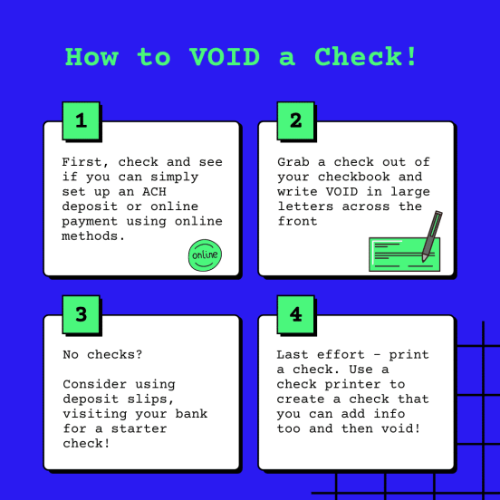 how to void check