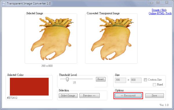 Transparent Image Converter