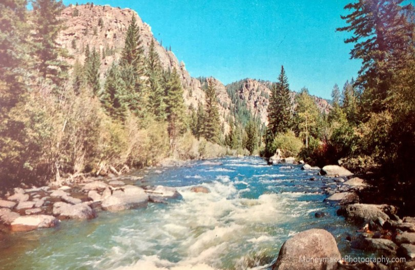 The Taylor River, in the scenic Taylor Canyon Recreation area, Gunnison National Forest, northeast of Almont and Gunnison, Western Colorado.