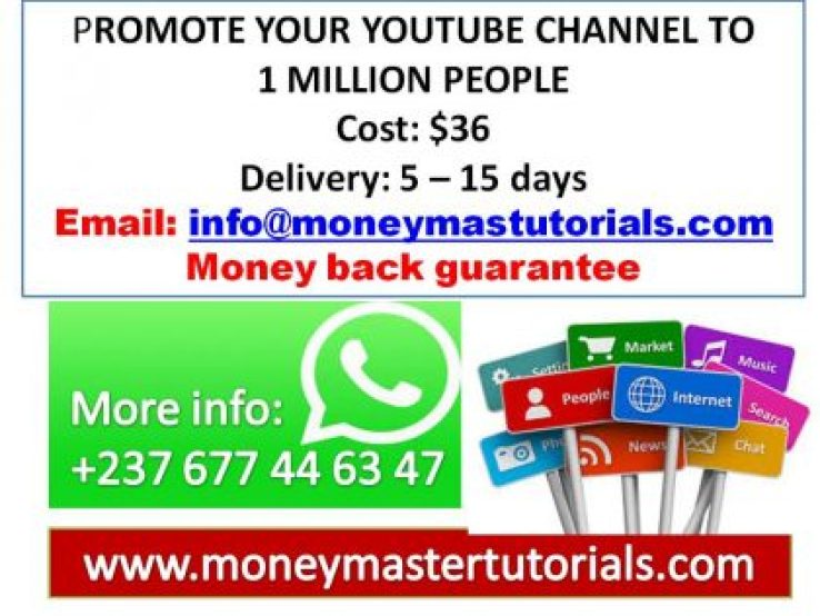 Promote Your YouTube Channel to 1 Million People