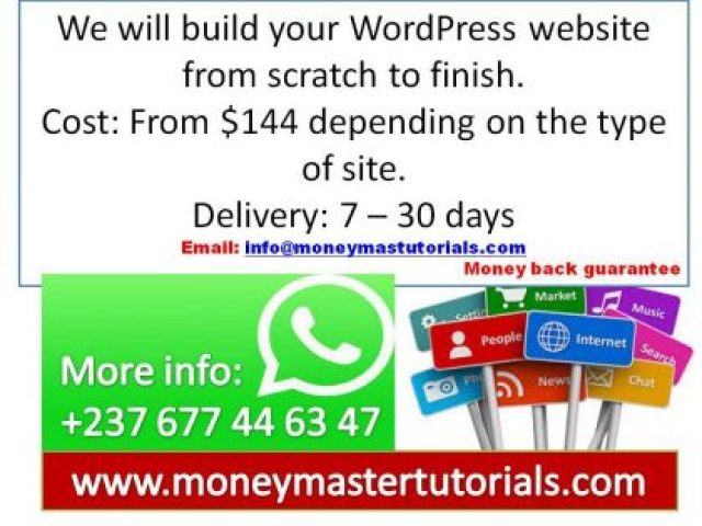 We will build your WordPress website from scratch to finish