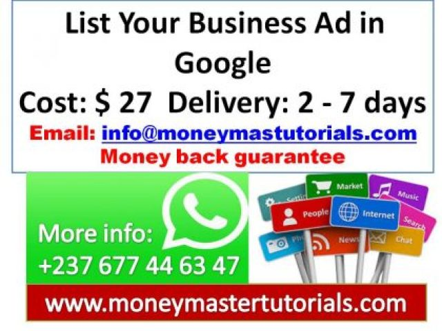 List Your Business Ad in Google