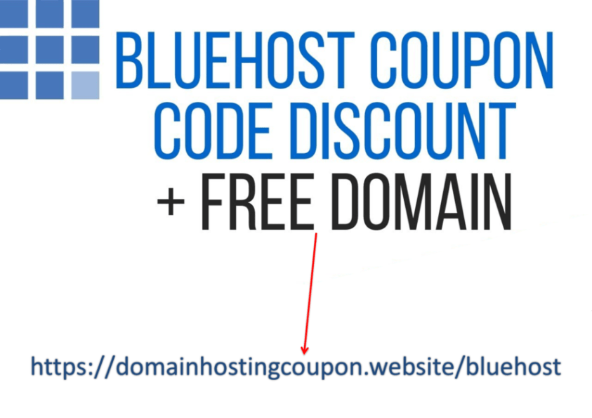 1)	Free domain from Bluehost  2)	67% discount on your first year of hosting (get hosting discount here)
