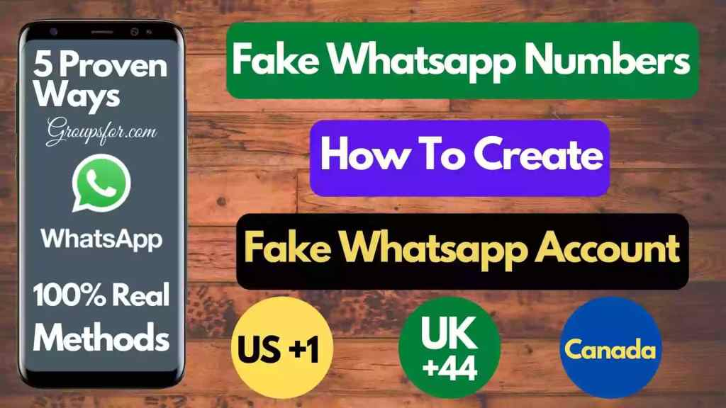 Fake number for WhatsApp - 5 ways 100% working