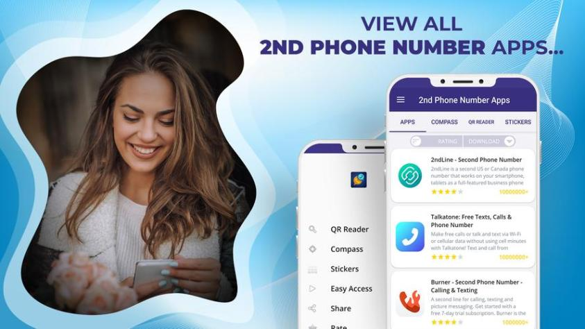 25 free second phone number apps