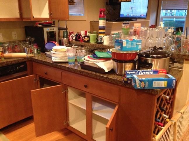 The kitchen purge!