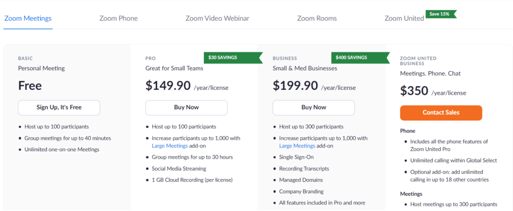 how does Zoom make money with subscription plans?