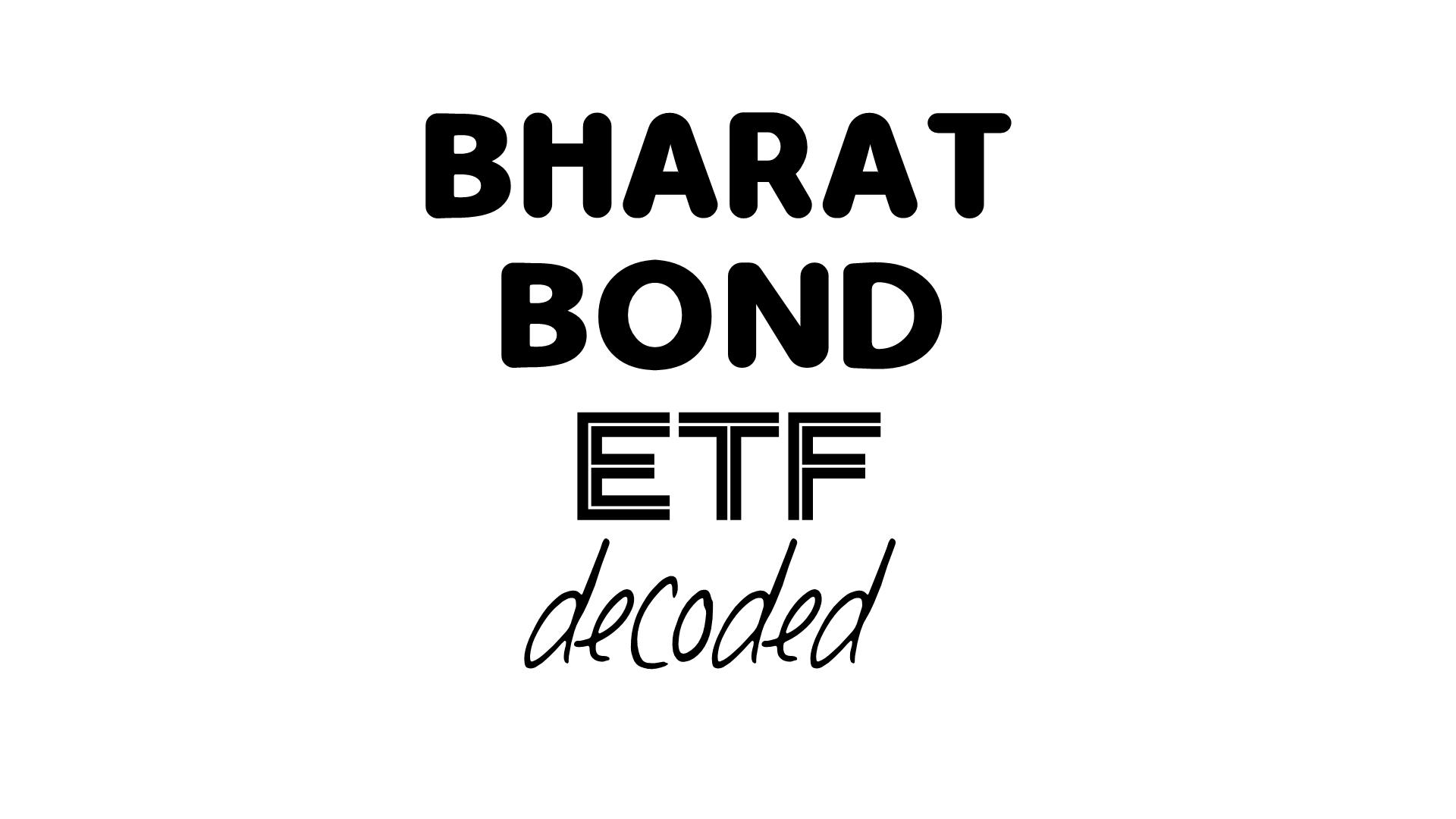 Money Musingz Personal Finance Blog Bharat Bond Etf