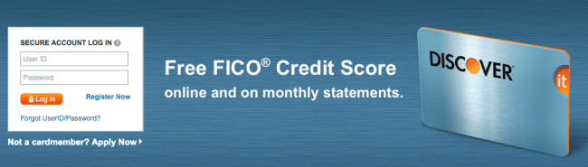 free credit scores discover