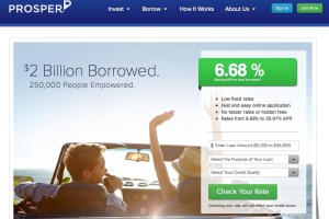 peer to peer lending prosper