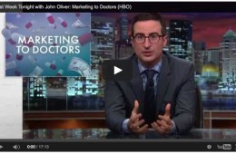 john oliver drug companies marketing to doctors