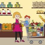 money lessons kids grocery shopping