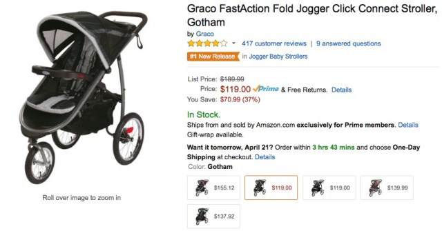 save money baby costs jogger stroller