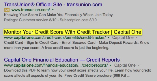 find your credit score search bank free capital one