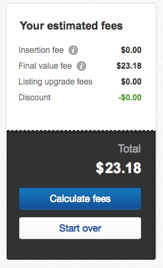 how to sell on ebay fee calculator ipad