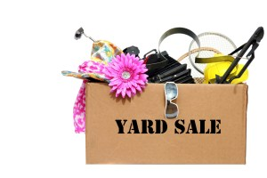 savings save money sell stuff yard sale