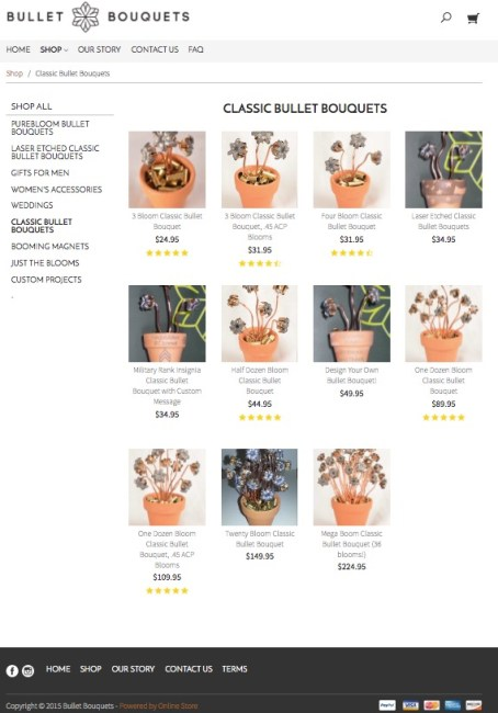 godaddy online stores review bullet bouquets