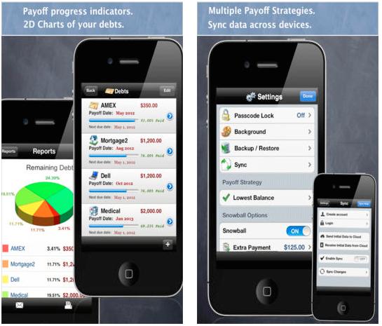 iphone apps save money debt free