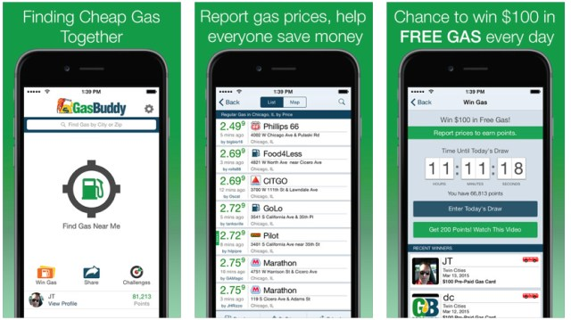 iphone gas apps gas buddy save money