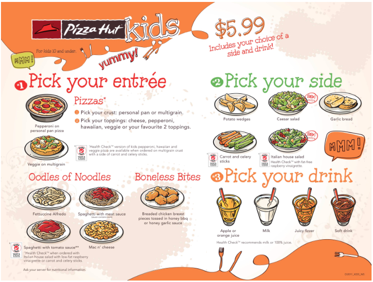 Kids Eat FREE Days in Canada, List of Canadian Restaurants offering Free Meals for Children Treat your family to a Restaurant Meal without breaking the bank! Mondays, Tuesdays, Wednesdays, Thursdays, Fridays, Saturdays and Sundays, several Restaurants in Canada offer free kids meal when purchasing an Adult Meal.
