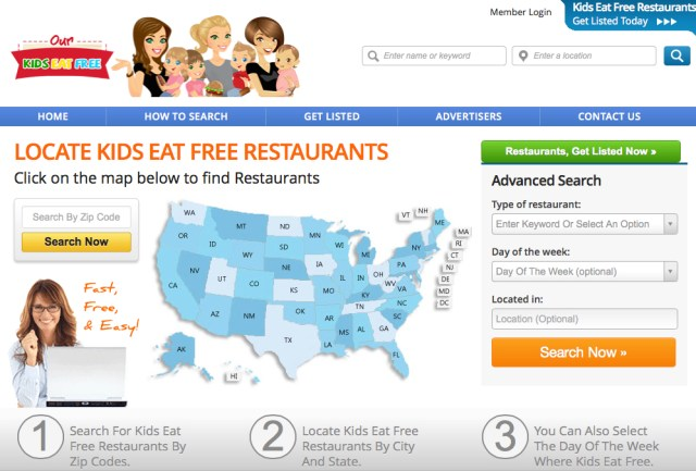 kids eat free restaurants our kids site