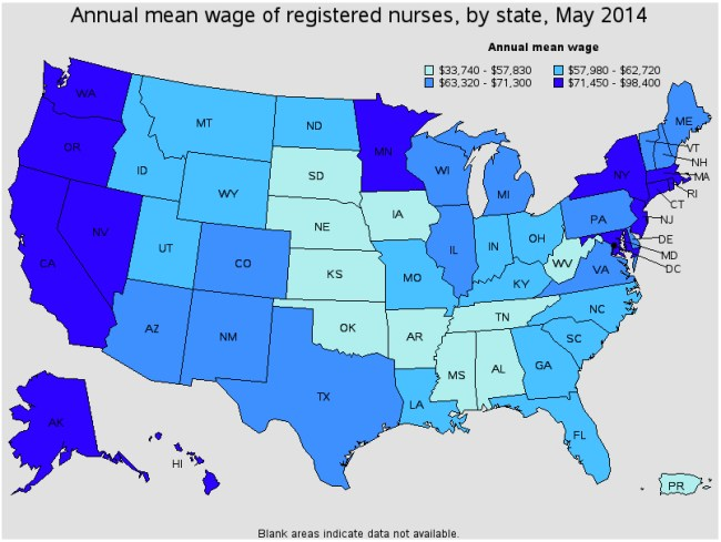 Nurse Salary by State