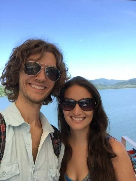 On the ferry to Puntarenas after spending 3 months in Montezuma, Costa Rica. My hair got a little out of control!