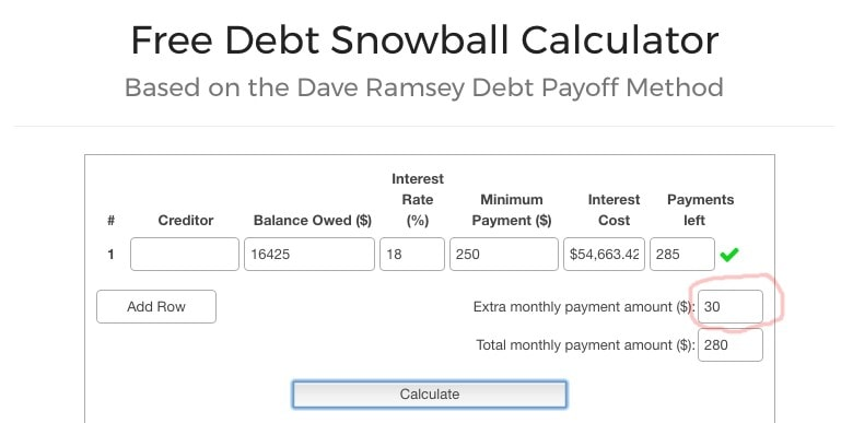 Free Debt Snowball Calculator 02