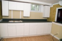 How To Refinish Melamine Kitchen Cabinets  Cabinets Matttroy