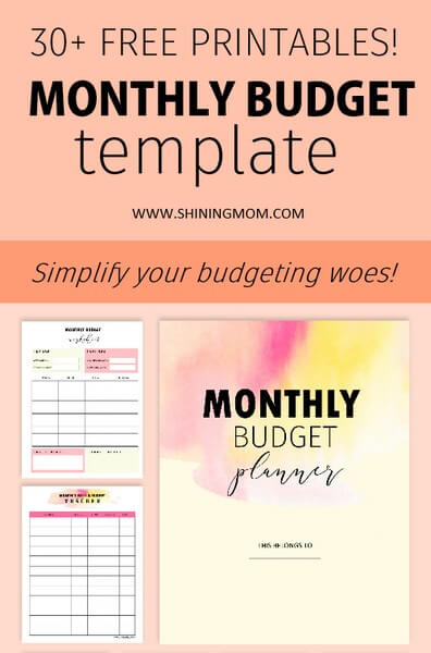 Shining Mom's Free Monthly Budget Template Binder