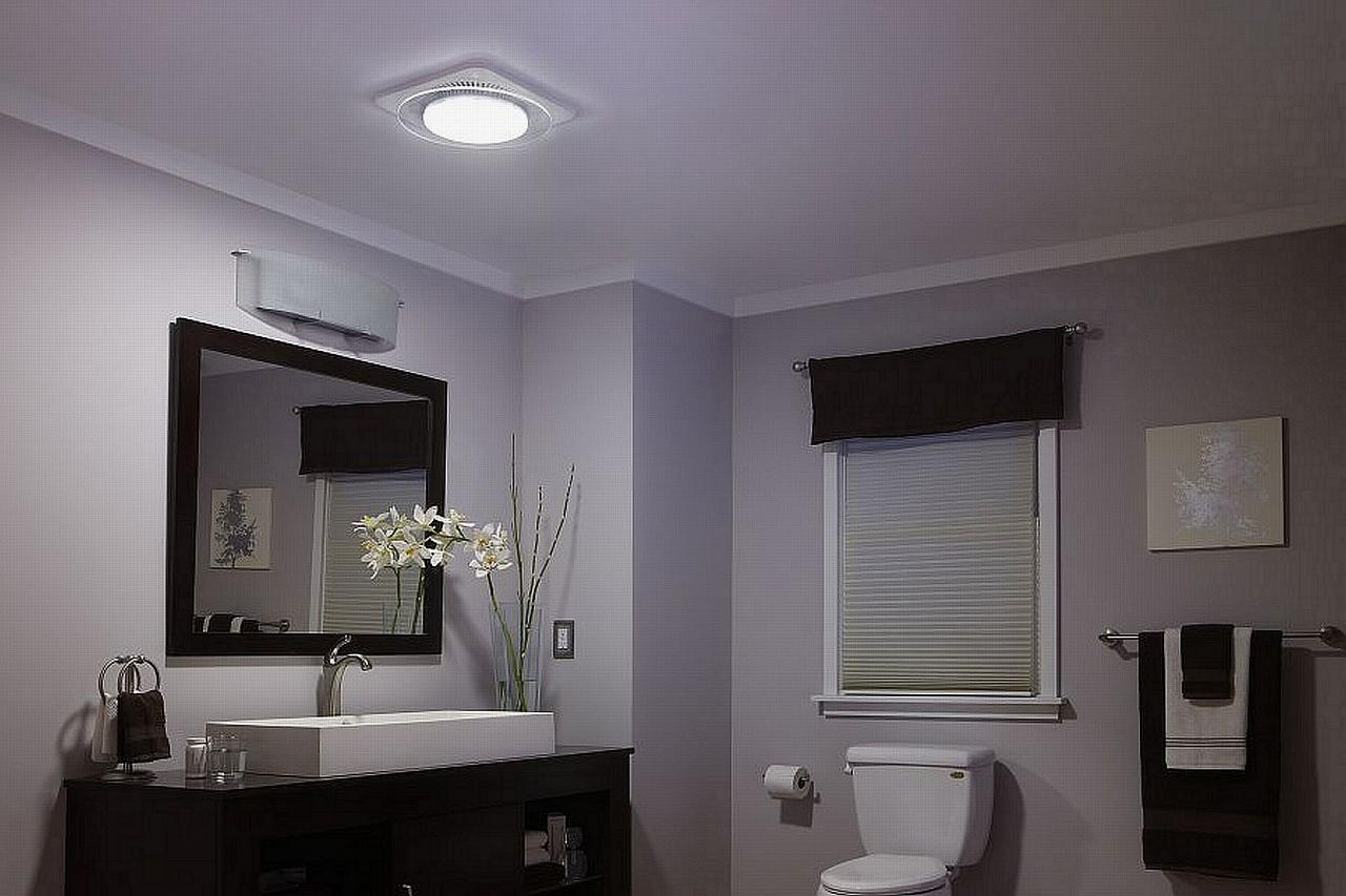 Best Bathroom Fan With Light Bath Ventilation Fans Nutone Lunaura Offers First Ambient