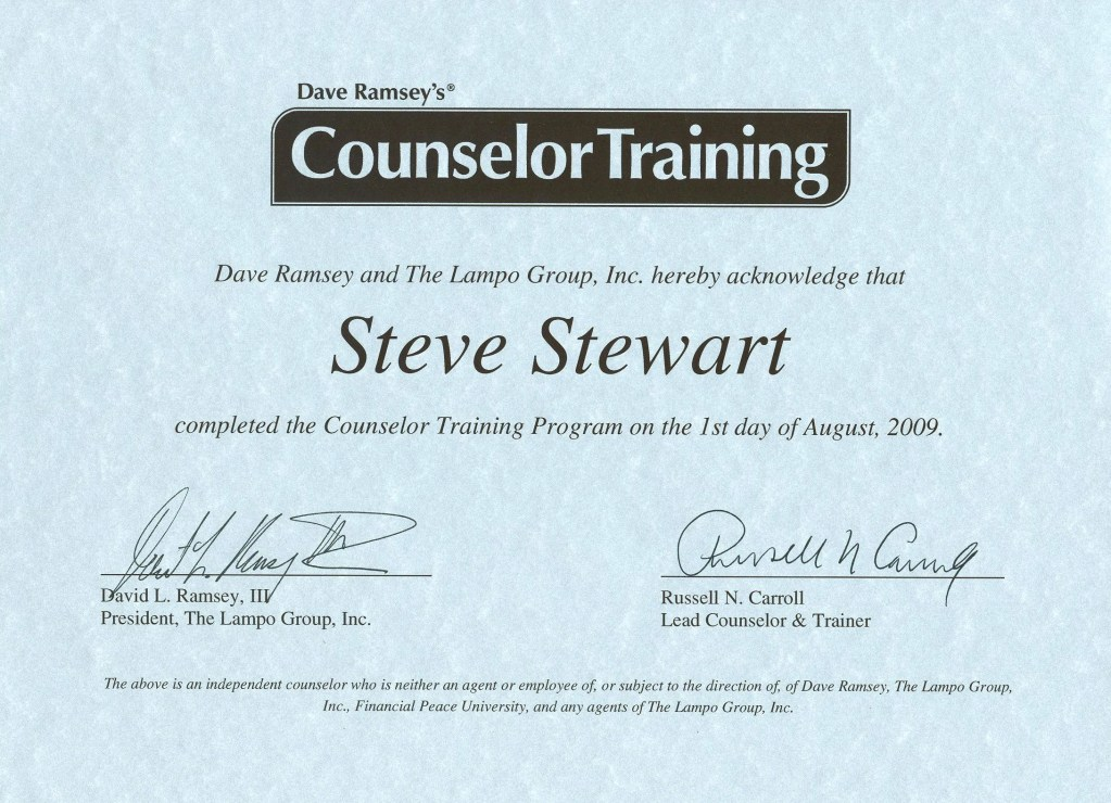 My experience taking Dave Ramsey's Counselor Training course