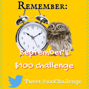 100 dollar challenge in September