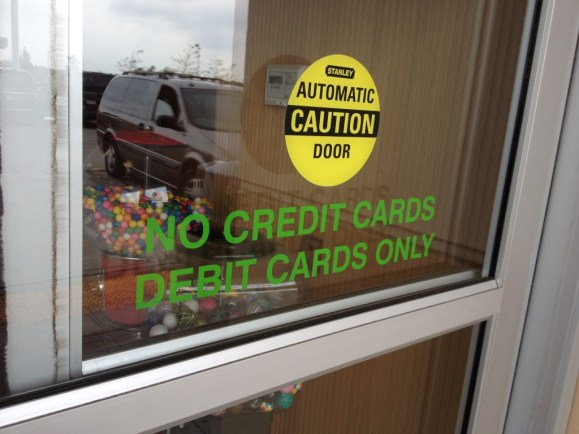 Woodmans does not accept credit cards