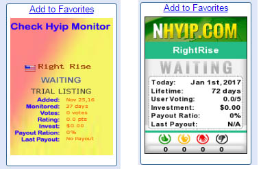RightRise HYIP monitor