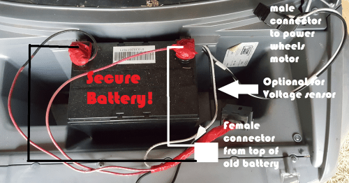 small resolution of always secure the battery