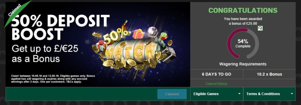 Casino Wagering Progress