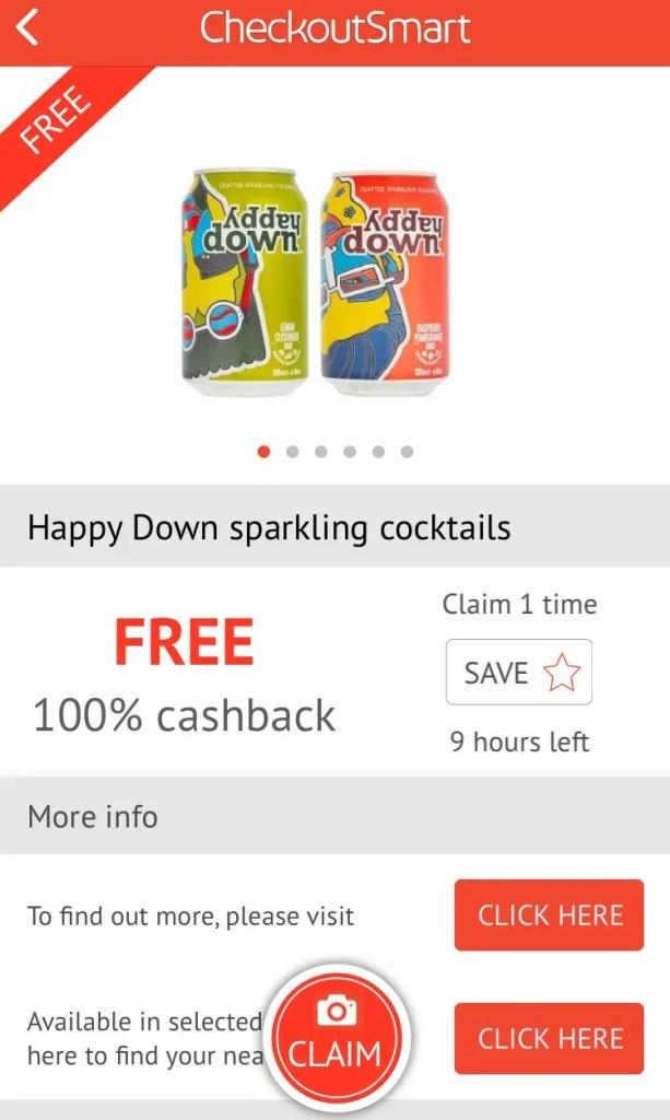 CheckoutSmart offer & Claim Cashback