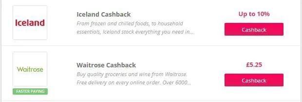 TopCashback New Customer Grocery Deals