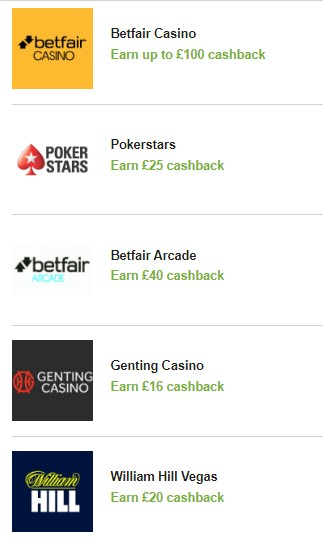 Quidco Casino Cashback