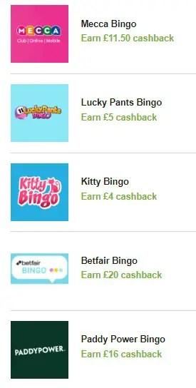 Bingo Cashback