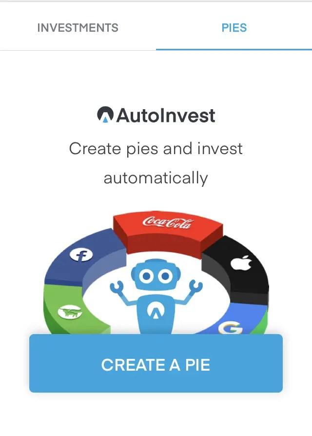 Create Investment Pies