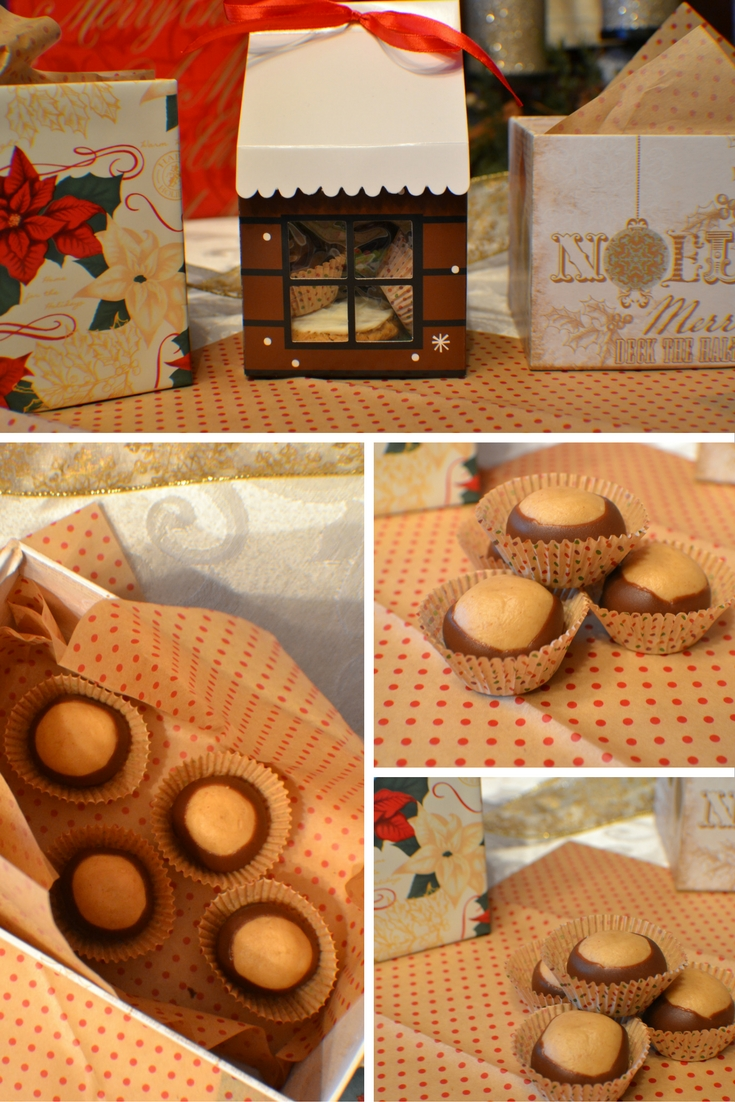 Buckeyes // Homemade Christmas Goodies #homemadegift #homemadegoodies #christmas #cookies #giftidea