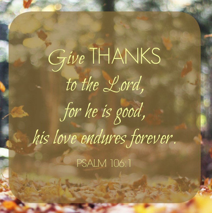 Give Thanks | Money Savvy Living