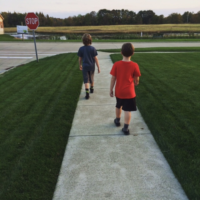 Evening walk with the kids | Money Savvy Living