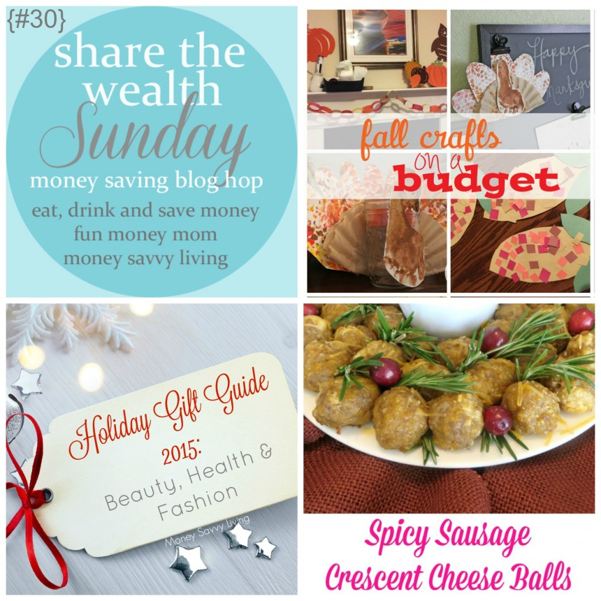 Share The Wealth Sunday 30 | Money Savvy Living