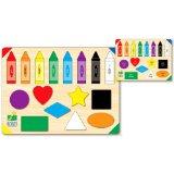 kids color shapes puzzle