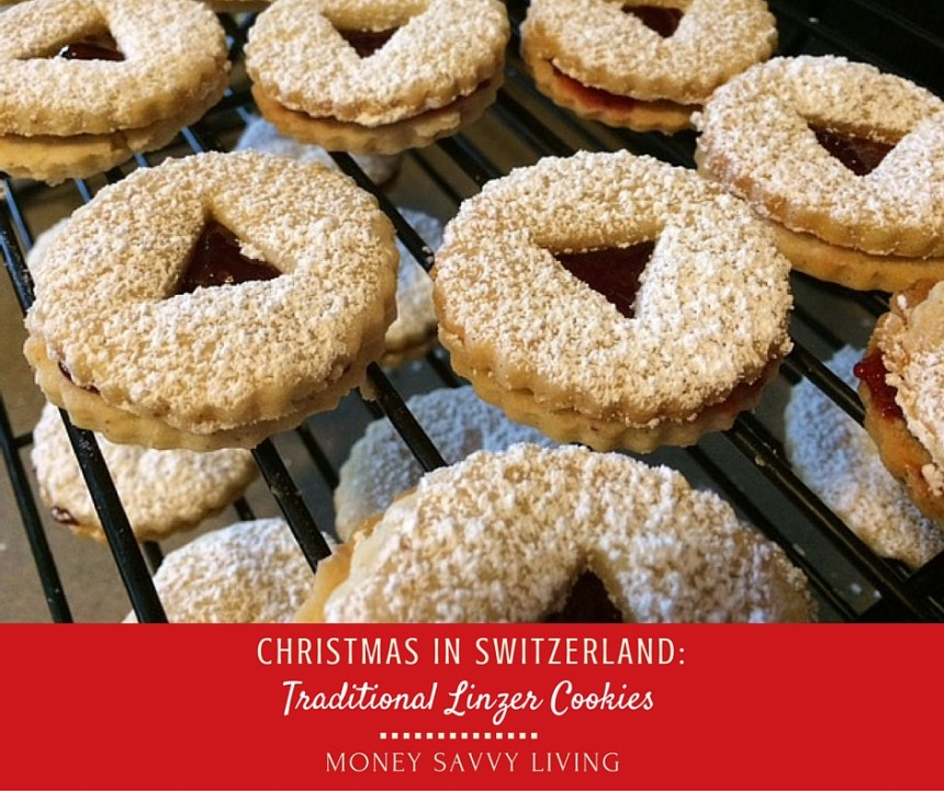 Christmas in Switzerland: Traditional Linzer Cookies