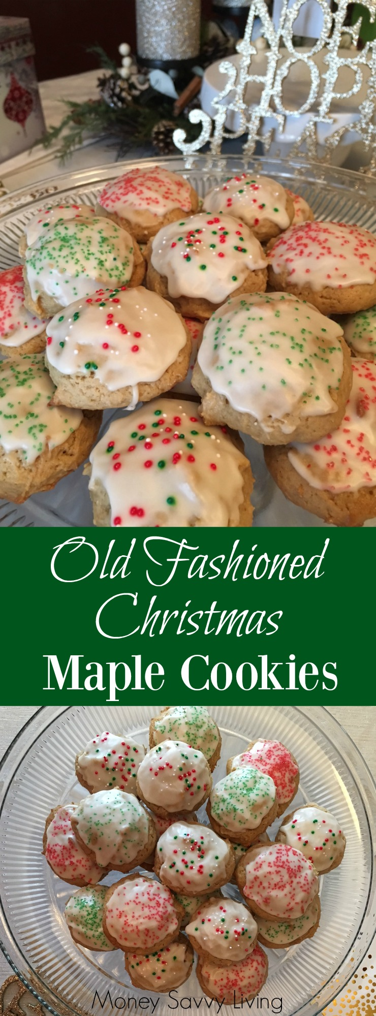 These Old Fashioned Maple Cookies are perfect for Christmas! #oldfashioned #homemade #cookies #cookierecipe #maple #maplecookies #christmas #christmascookies #easycookierecipe