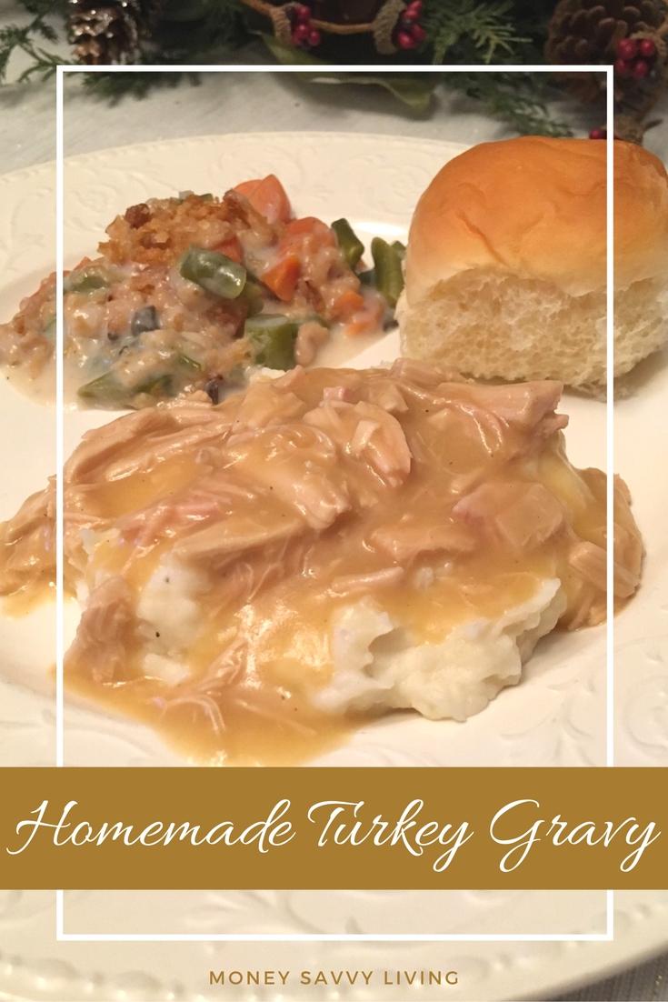 No Fail Homemade Turkey Gravy | Money Savvy Living